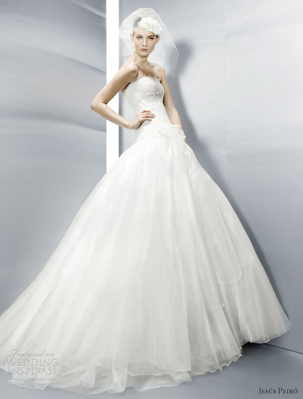 jesus peiro wedding dresses 2013 strapless ball gown