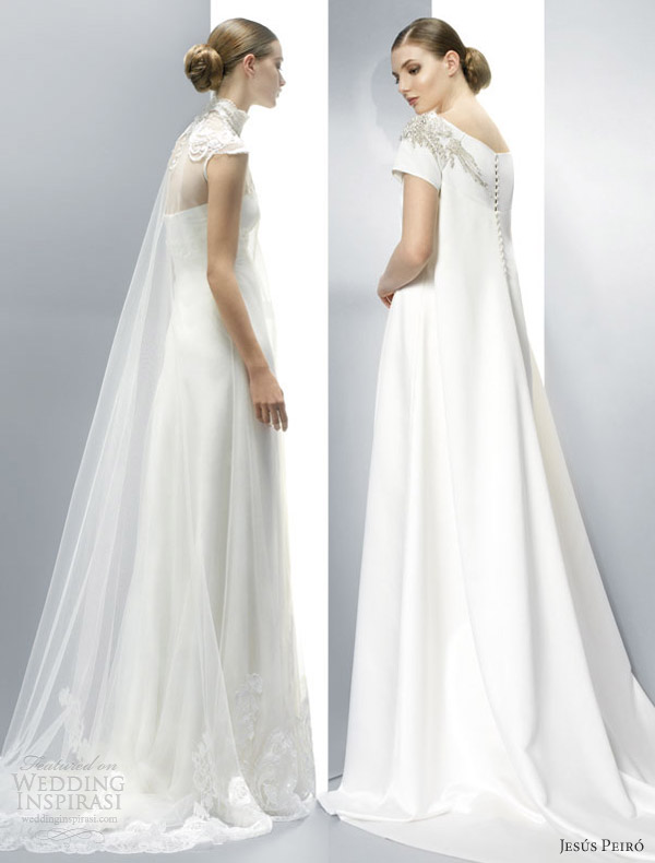 jesus peiro wedding dresses 2013 watteau train cape illusion