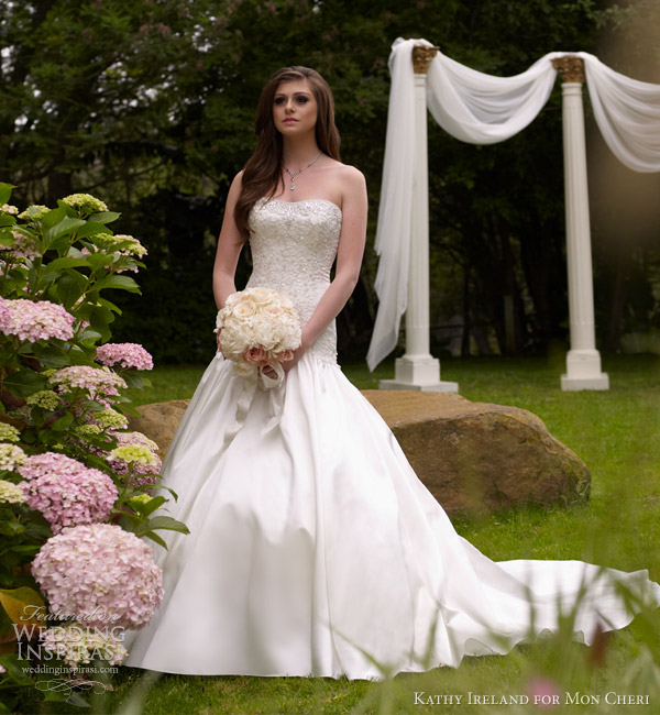 Pictures Of Wedding Gowns 2013: Kathy Ireland For Mon Cheri Spring 2013 Preview + Fall
