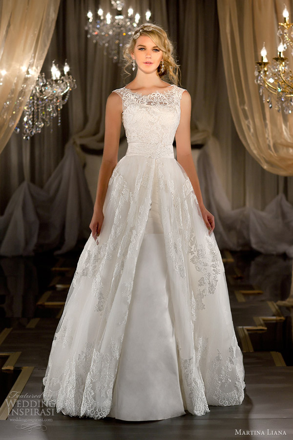 martina liana bridal 2012 2013 sleeveless ball gown wedding dress