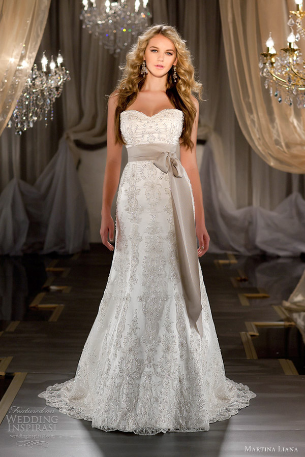 martina liana fall 2012 strapless wedding dress 419
