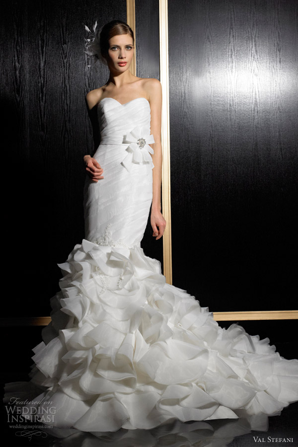 val stefani wedding dresses fall 2012 strapless sweetheart mermaid gown d8024
