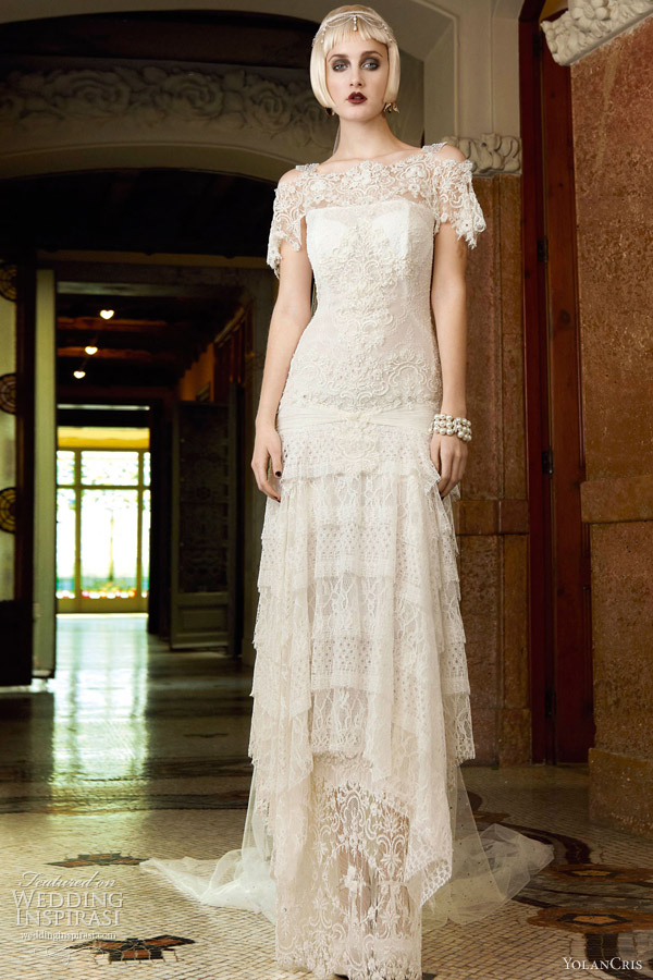 yolan cris 2013 bridal verona chantilly lace wedding dress