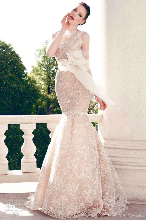 Yumi Katsura Spring 2013 Wedding Dresses | Wedding Inspirasi Lace Mermaid Wedding Dress 2013