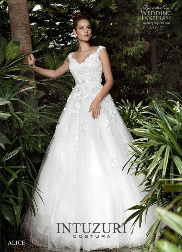 alice intuzuri weddding dresses 2013 a line dress
