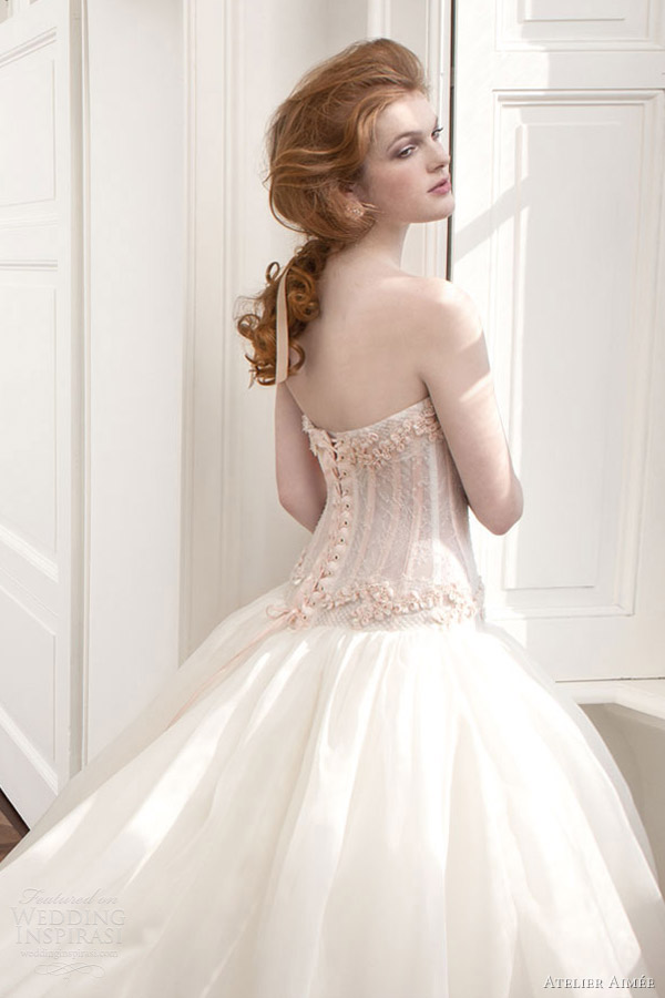 atelier aimee 2013 drop waist ball gown wedding dress corset back