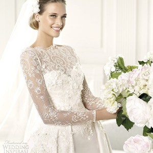 elie by elie saab 2013 pronovias monet long sleeve wedding gown
