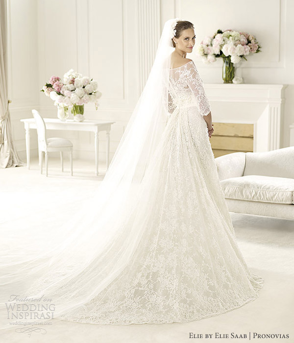 Elie by elie saab pronovias 2013 wedding dresses folie long sleeve