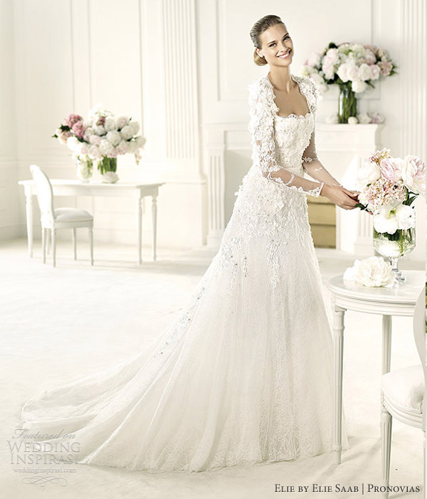Elie by elie saab 2013 collection for pronovias wedding for Elie by elie saab wedding dress