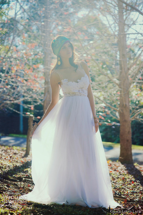 grace loves lace loren wedding dress illusion neckline