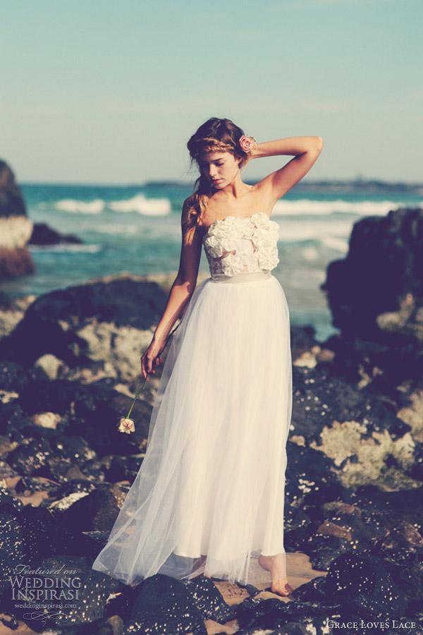 grace loves lace wedding dresses sophia strapless gown tulle skirt
