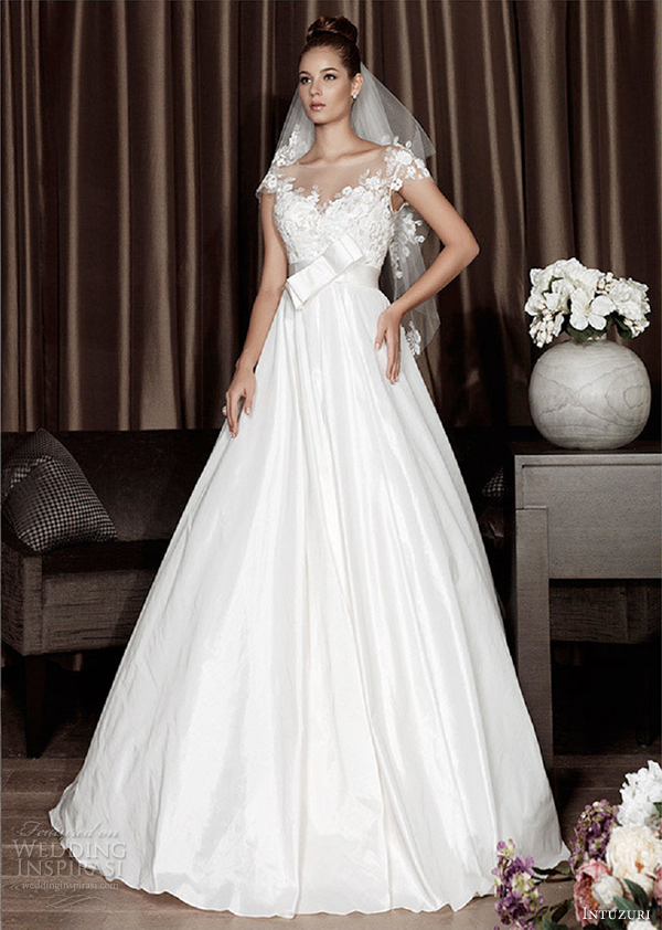 intuzuri wedding dresses 2013 althea princess bow bridal gowns