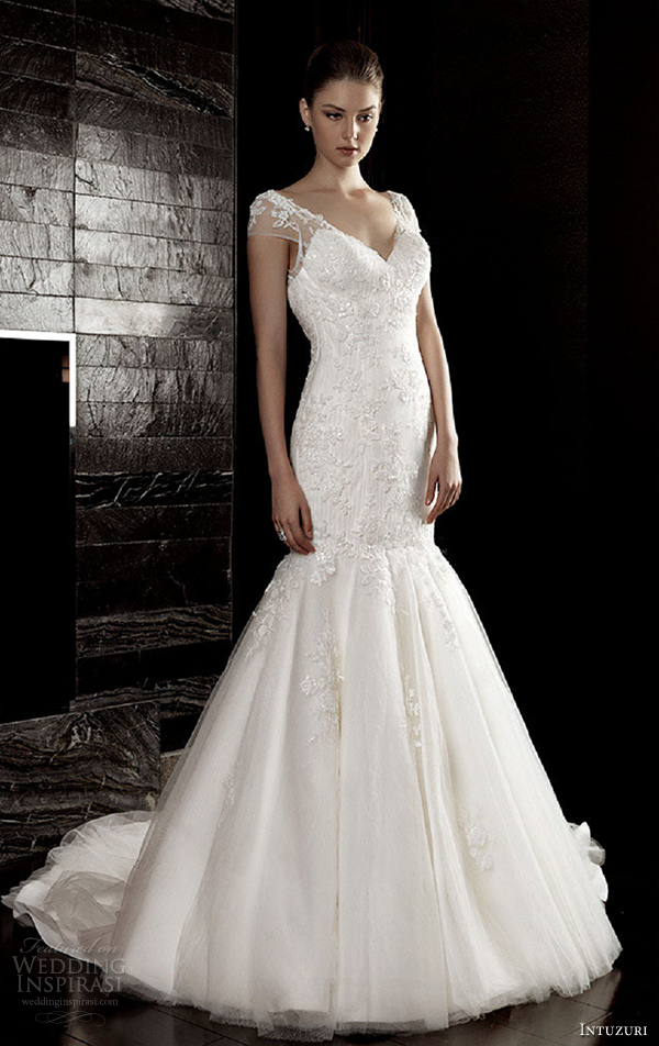 intuzuri wedding dresses 2013 alvera cap sleeves bridal gowns
