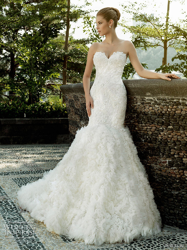 intuzuri wedding dresses angelina strapless sweetheart neckline bridal gown