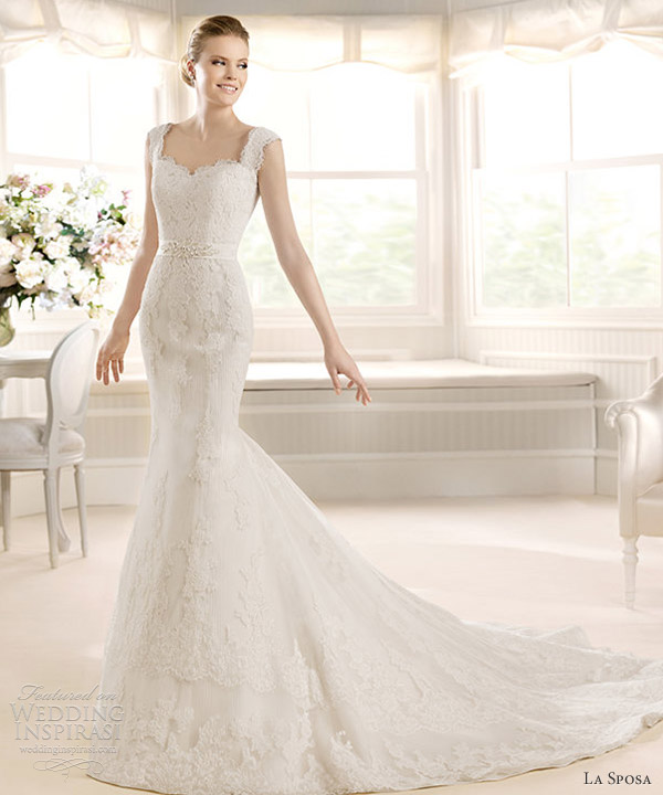 la sposa 2013 bridal meca lace wedding dress straps