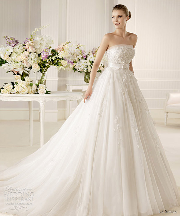 la sposa 2013 bridal mistella strapless wedding dress