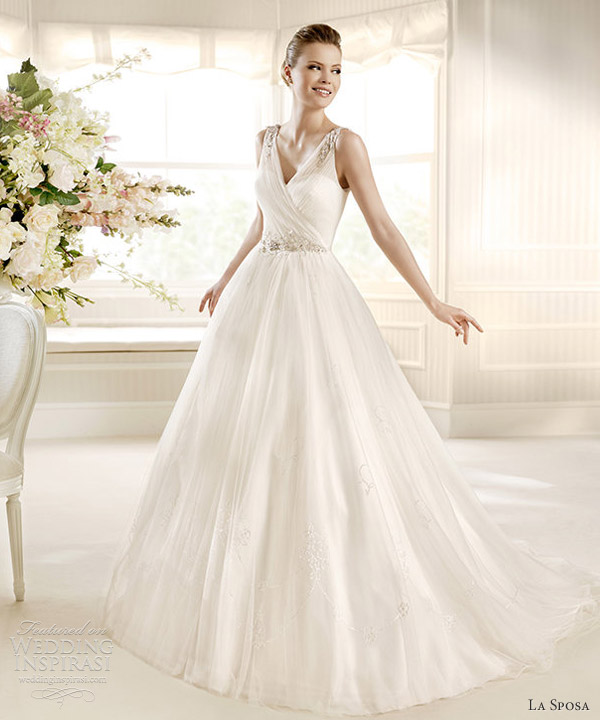 la sposa 2013 bridal moira sleeveless v neck wedding dress