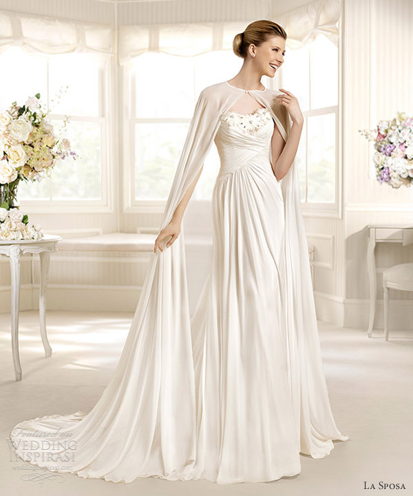 la sposa 2013 marcial wedding dress full length bridal cape
