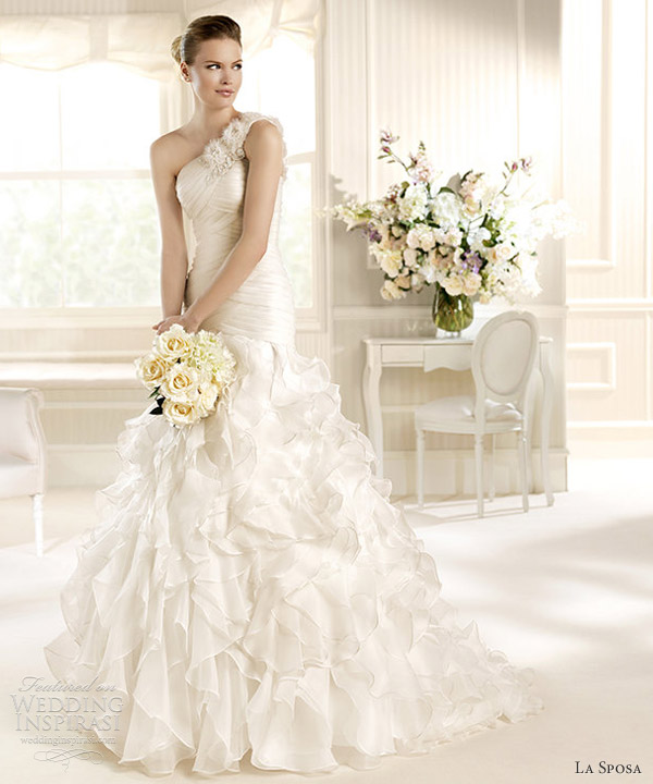 la sposa 2013 wedding dress miami one shoulder gown
