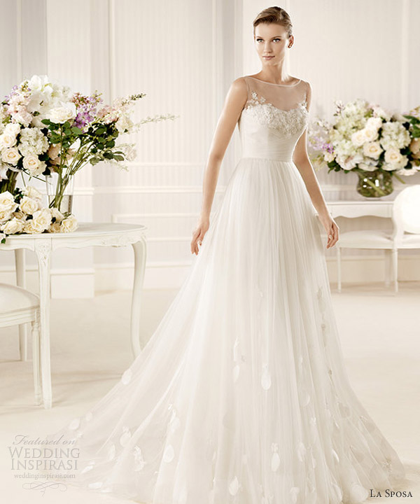 la sposa 2013 wedding dress morse sleeveless illusion gown
