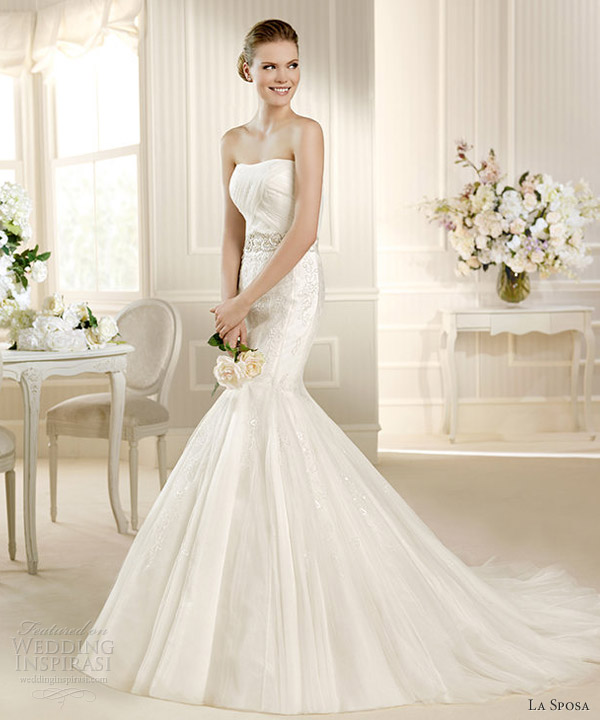 la sposa 2013 wedding dress mozart strapless mermaid gown
