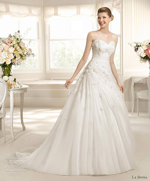 la sposa 2013 wedding dresses merlin strapless sweetheart neckline gown