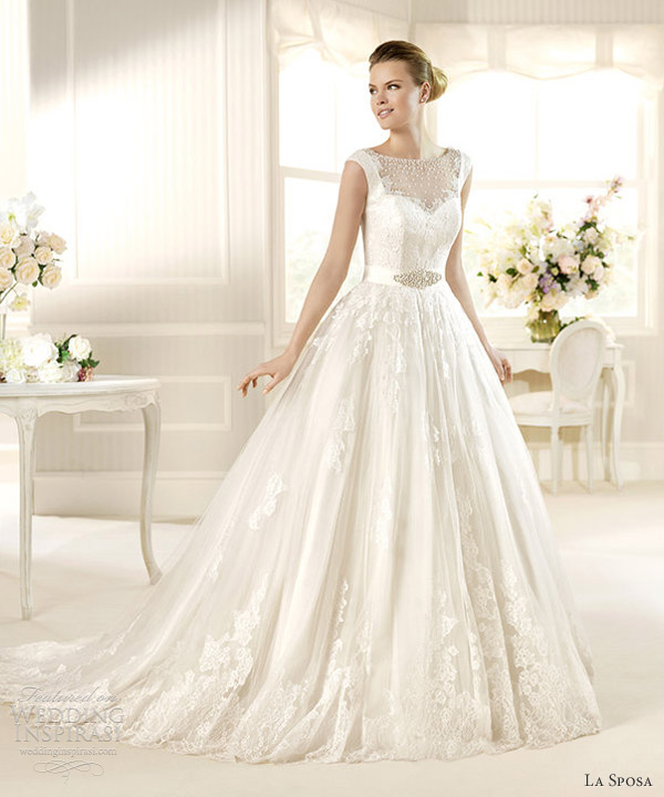 la sposa wedding dresses 2013 bridal costura matiz ball gown cap sleeves