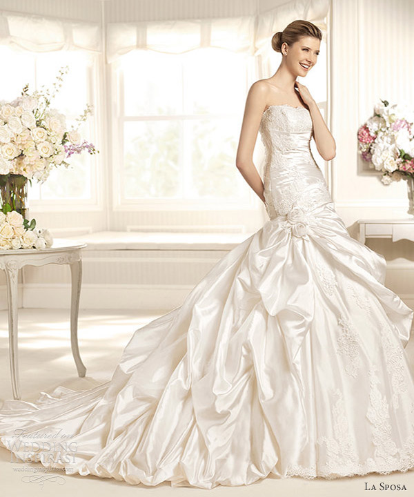 la sposa wedding dresses 2013 mar straples gown pick up skirt