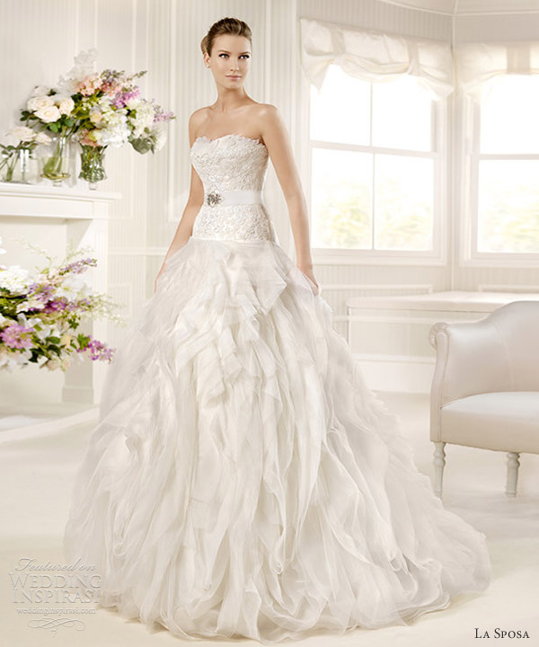 la sposa wedding dresses 2013 mirto drop waist ball gown