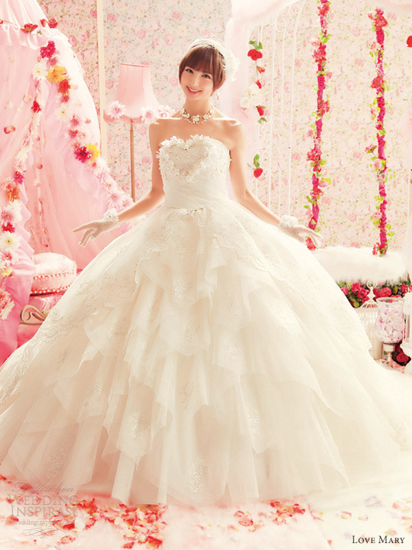 love mary japanese wedding dresses ball gown