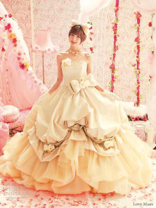 love mary sweet wedding dresses ball gown pick up skirt
