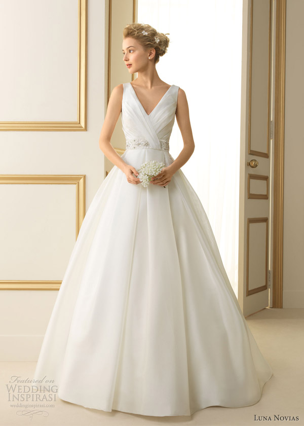 Luna Novias 2017 Tenesse Sleeveless Ball Gown Straps