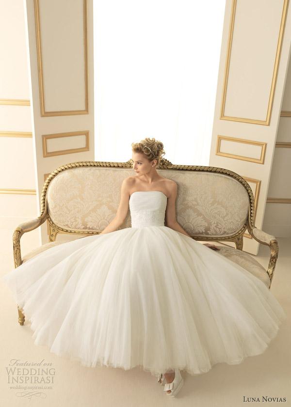luna novias 2013 timbal tea length wedding dress