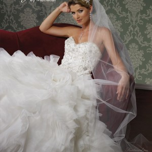 magnolia by marionat bridal spring 2013 wedding dress ruffle sweetheart style 5090