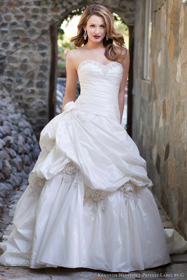 Kenneth winston bridal collection private label by g for Private label wedding dress