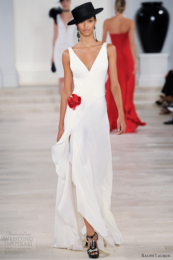 ralph lauren spring 2013 sleeveless white evening gown