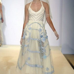 temperley london spring 2013 rtw white blue hat veil