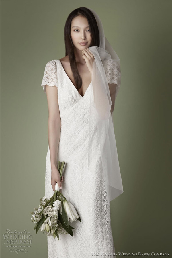 1930s style lace slip dress vintage wedding dress company 2013