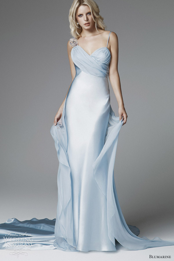 blumarine 2013 bridal pastel blue wedding dress