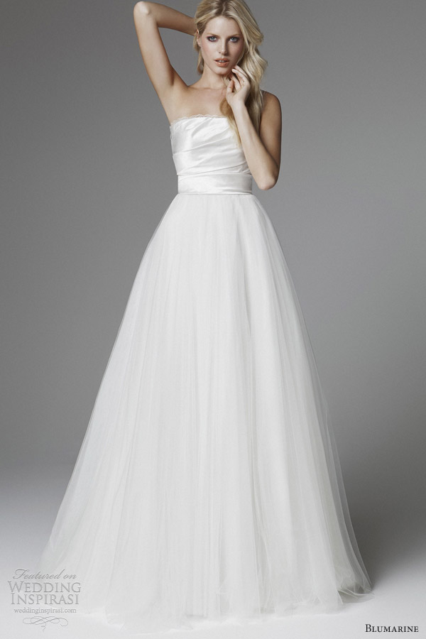 blumarine 2013 strapless tulle ball gown