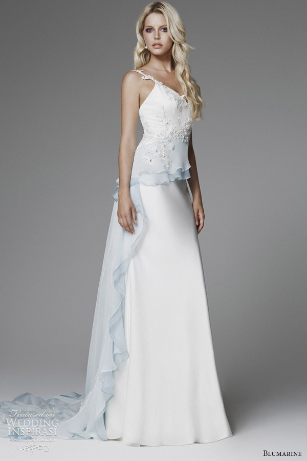 blumarine bridal 2013 ombre peplum wedding dress