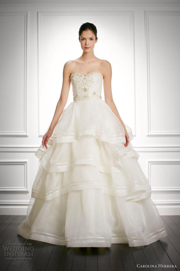 carolina herrera bridal fall 2013 josephine wedding dress ball gown