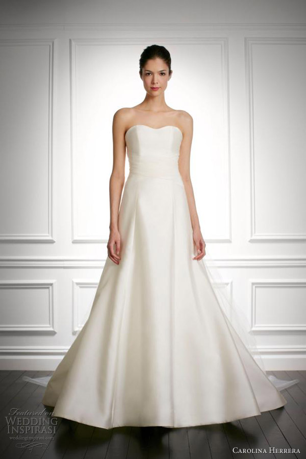 carolina herrera wedding dresses fall 2013 bridal jada strapless gown