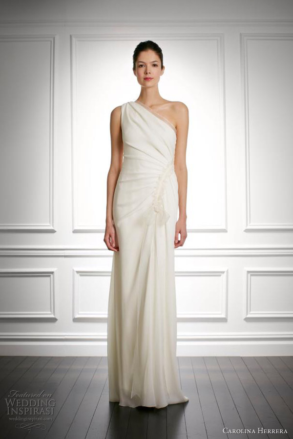 carolina herrera wedding dresses fall 2013 bridal joan one shoulder gown