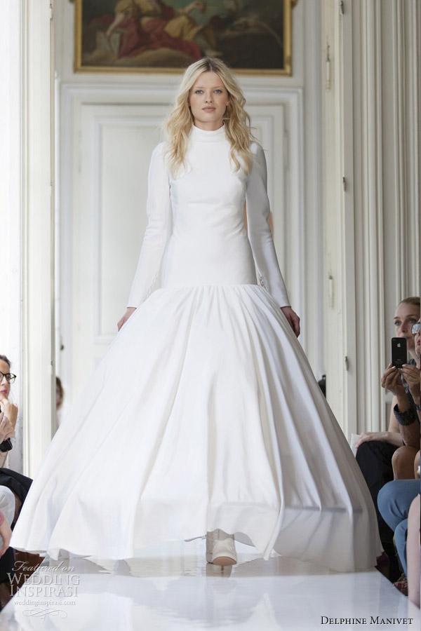 Wedding Dresses Long Sleeves High Colar 53