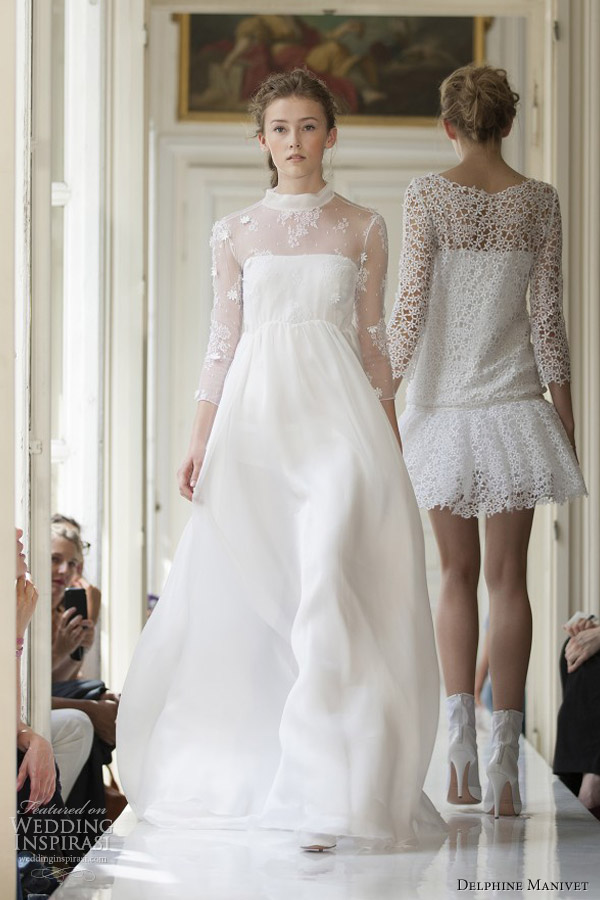 Delphine Manivet Bridal Gown 2017 Donatien High Neck Wedding Dress