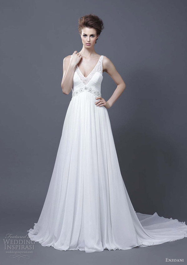 enzoani bridal 2013 harley wedding dress sleeveless straps