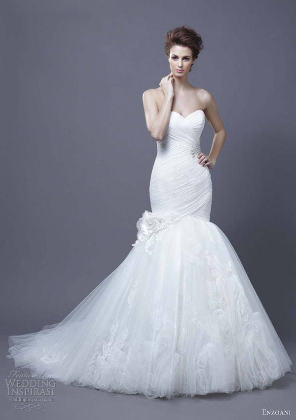 enzoani wedding dress 2013 harika strapless mermaid gown