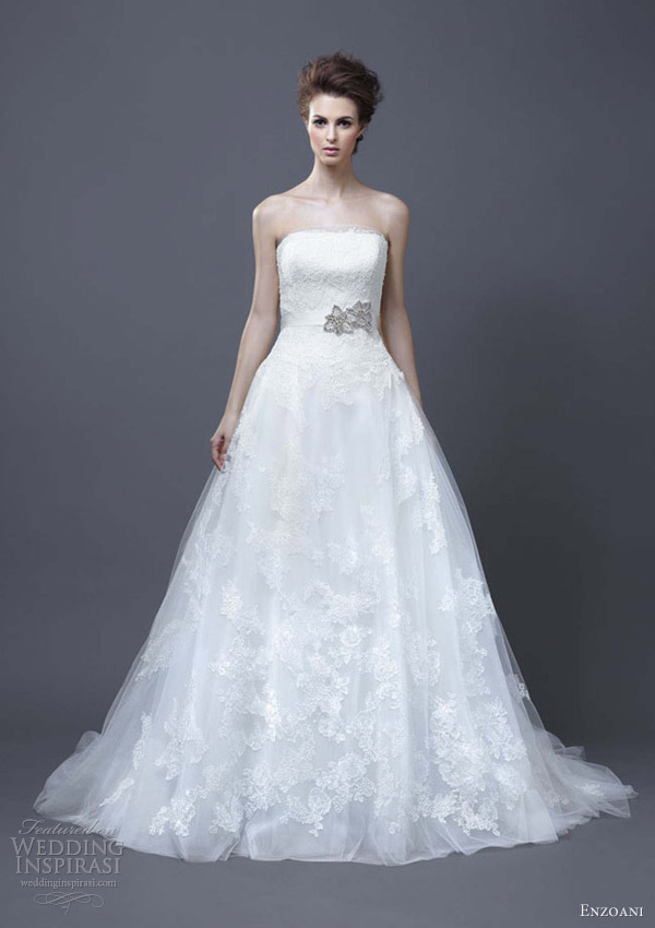 enzoani wedding dresses 2013 halo a line bridal gown