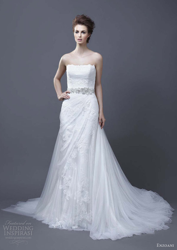 enzoani wedding dresses 2013 helen strapless draped skirt